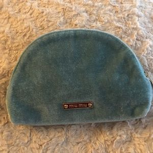 Miu Miu Light Blue Velvet Pouch
